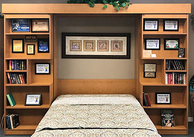 Miller's Murphy Bed and Home Offices, Library Bed