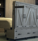 Miller's Murphy Bed, Bed-in-a-box half opened