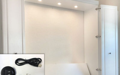 July Special – Free LED Cabinet Lights or USB Charging Station