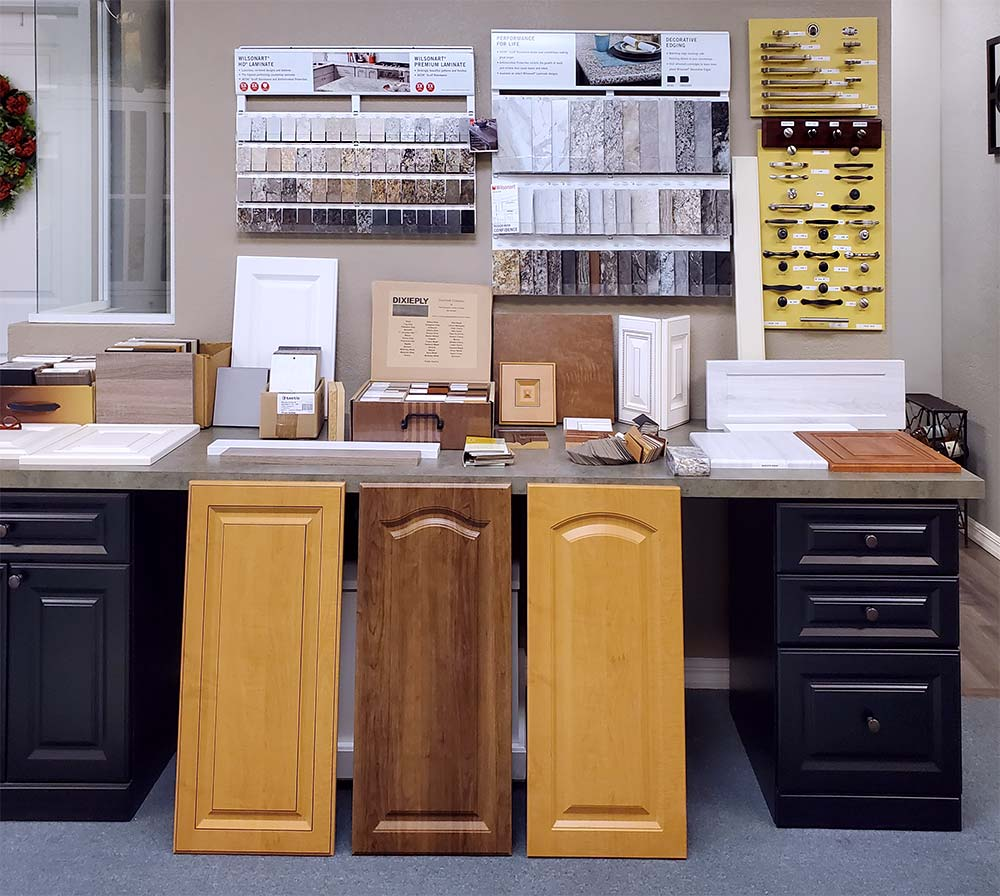 Hardware, countertops, cabinetry choices at Miller's Murphy Bed & Home Offices