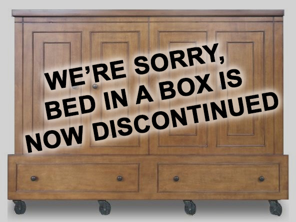 Miller's Murphy Bed is discontinuing Bed in a Box