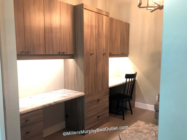 2-person Workstation, Miller's Murphy Bed