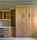 Panel bed with desk and side cabinets by Millers Murphys Beds